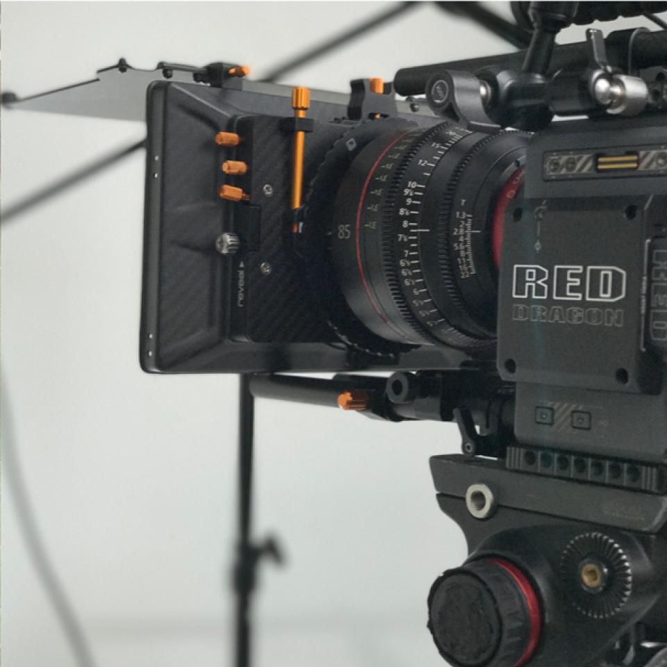 Closeup image of Video camera
