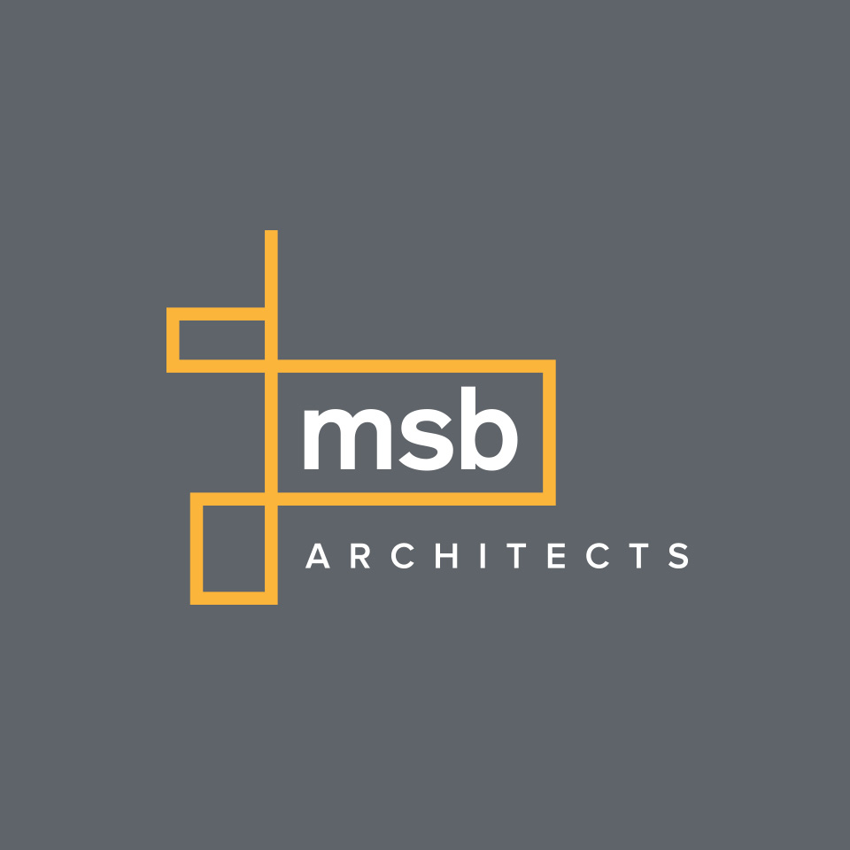MSB Architects Final Logo on dark grey background