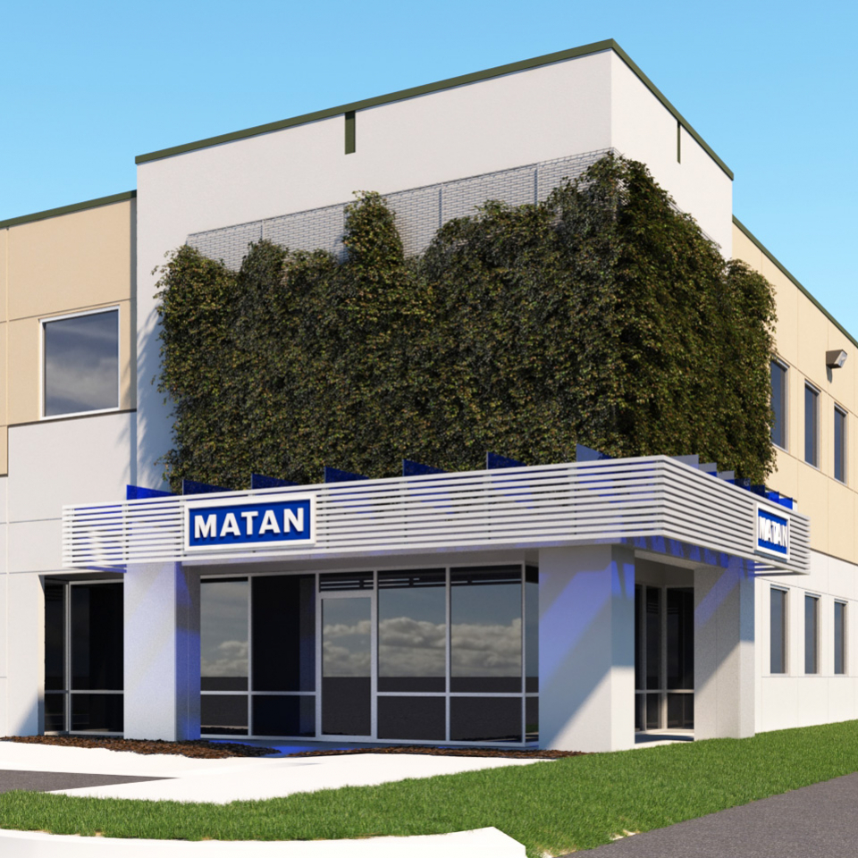 Rendering of a Matan Office main enterance