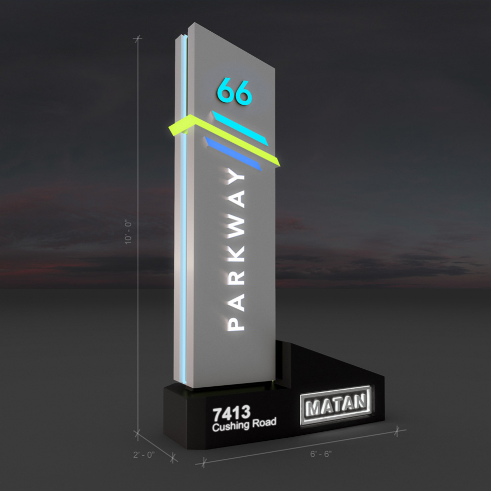 Rendering of Parkway 66 Monument Signage