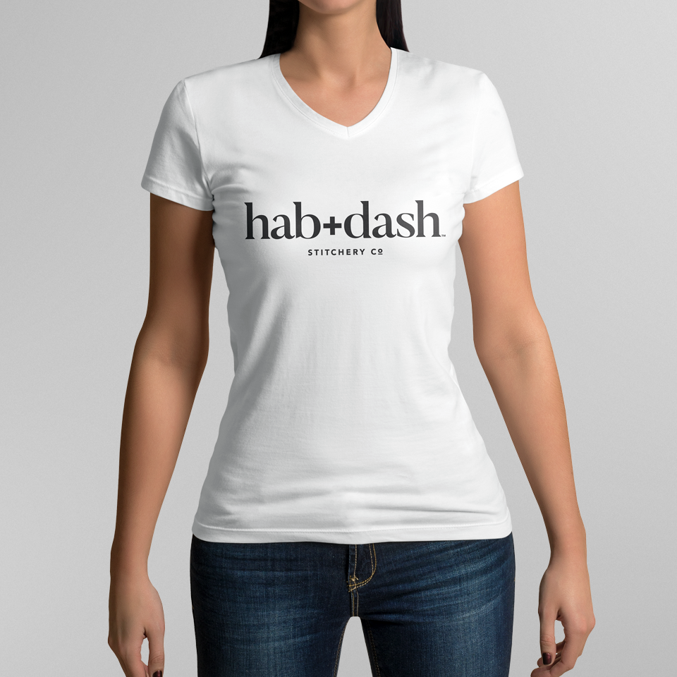 Product Concept - T-Shirt with hab+dash logo