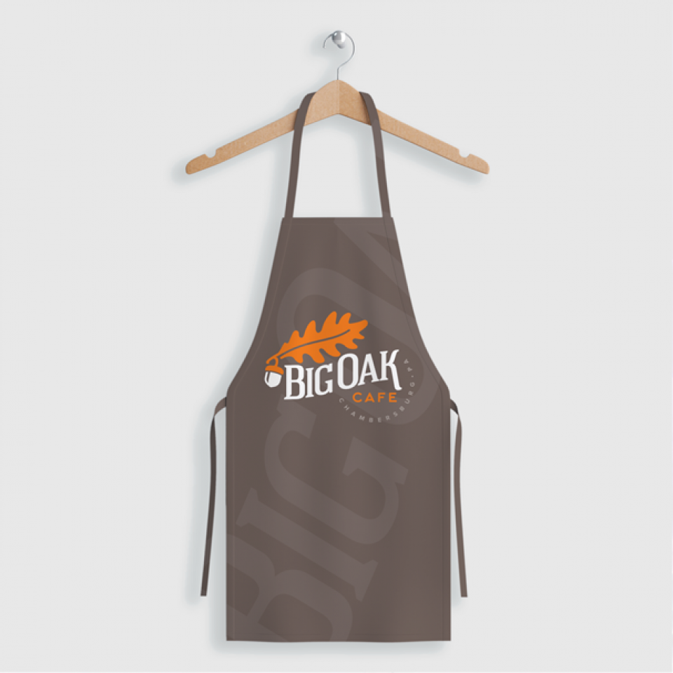 Big Oak Logo on an Apron
