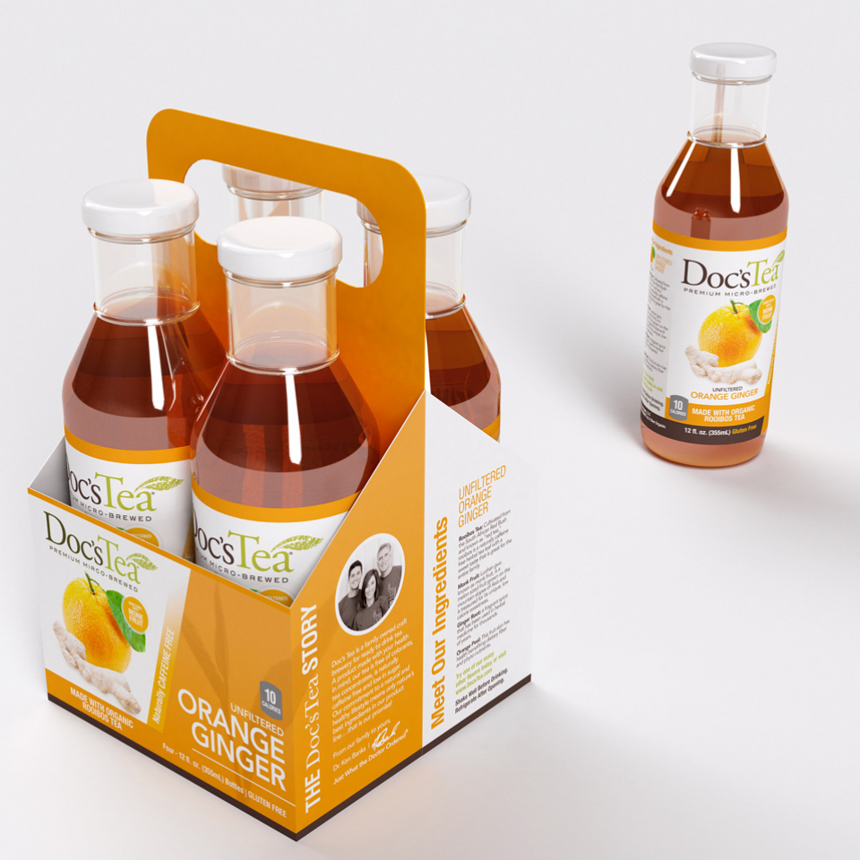 Doc's Tea Bottles and Carrier