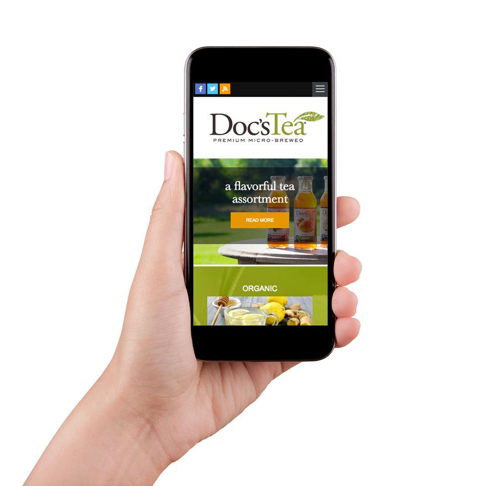 Doc's Tea Mobile Site