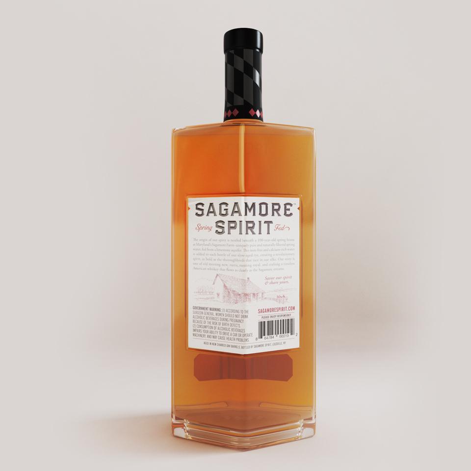 Sagamore Spirit - Bottle Back Label