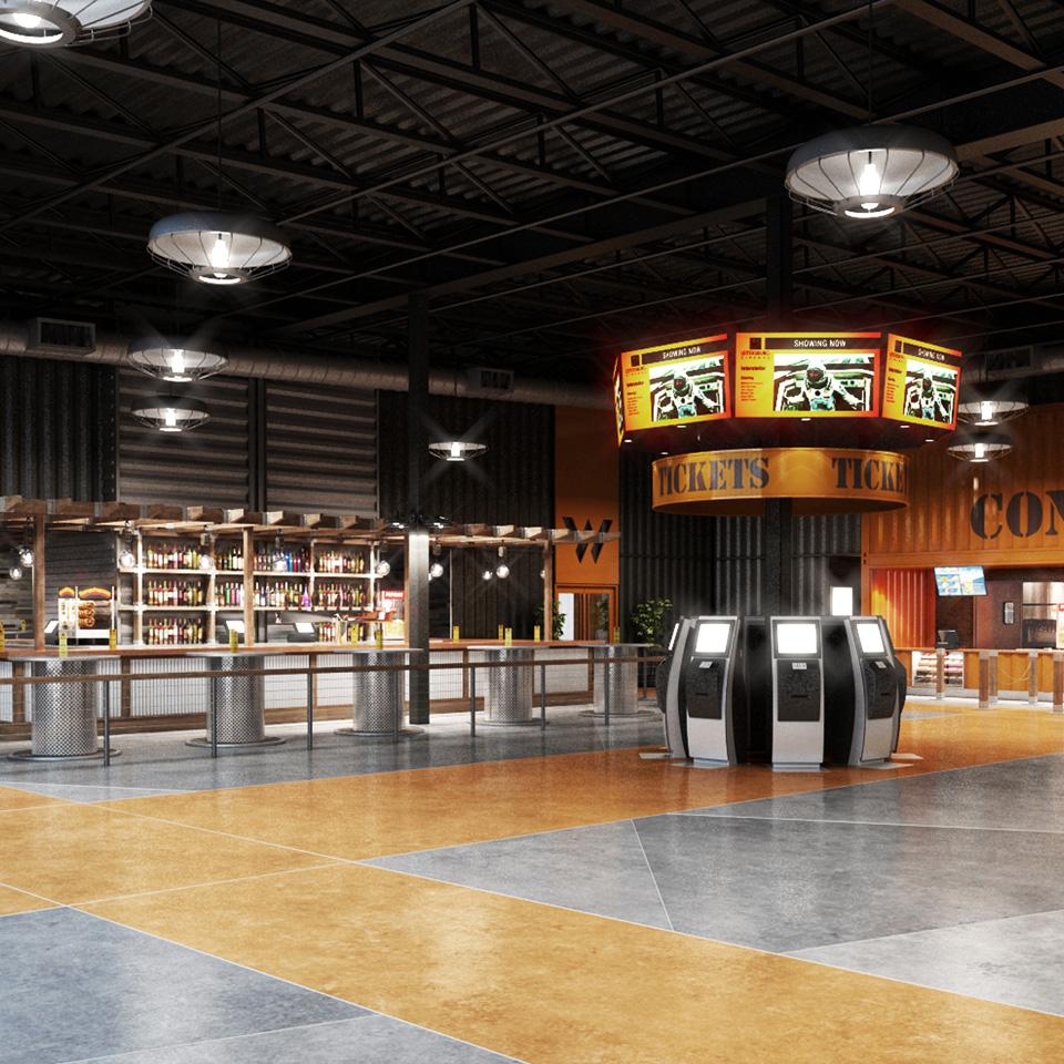 Warehouse Cinemas - Interior Rendering