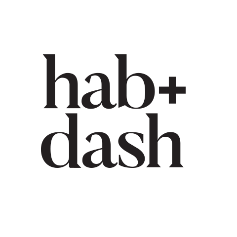 Logo Concept - hab + dash on white