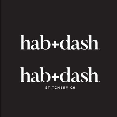 Logo Concept - hab+dash text duplicated on back