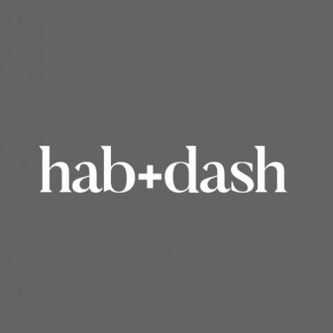 Logo Concept - hab+dash on black