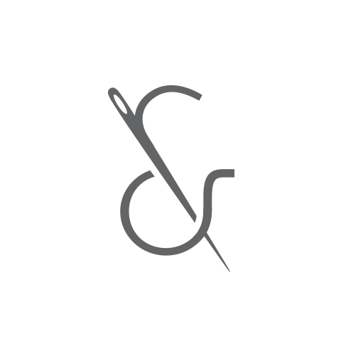 Logo Concept - ampersand with a needle going through the center, forming the line to make the symbol