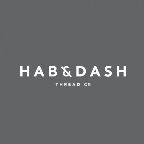 Logo Concept - Hab & Dash Thread Co on black