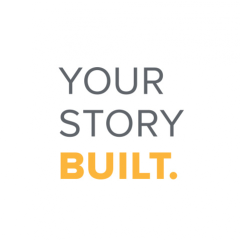 "New tagline featuring ""Your Story Built."""
