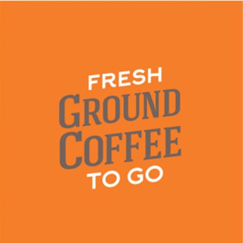 Fresh Ground Coffee To Go Concept