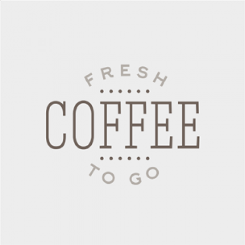 Fresh Ground Coffee To Go Concept - Grey