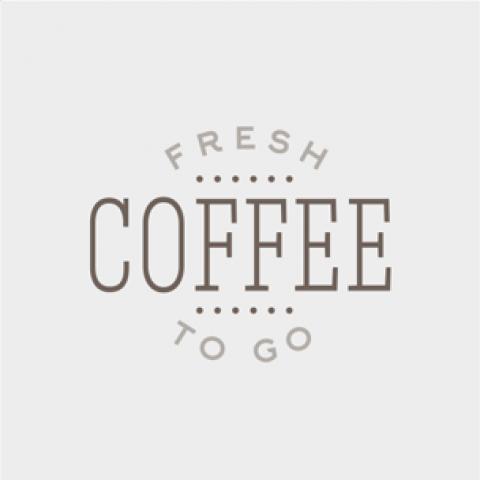 Fresh Ground Coffee To Go Concept - Grey