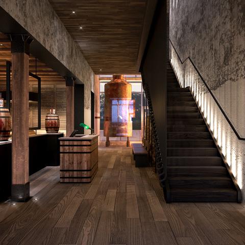 Sagamore Distillery - Stairway Rendering